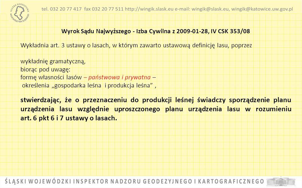 Wyrok Sądu Najwyższego - Izba Cywilna z 2009-01-28, IV CSK 353/08
