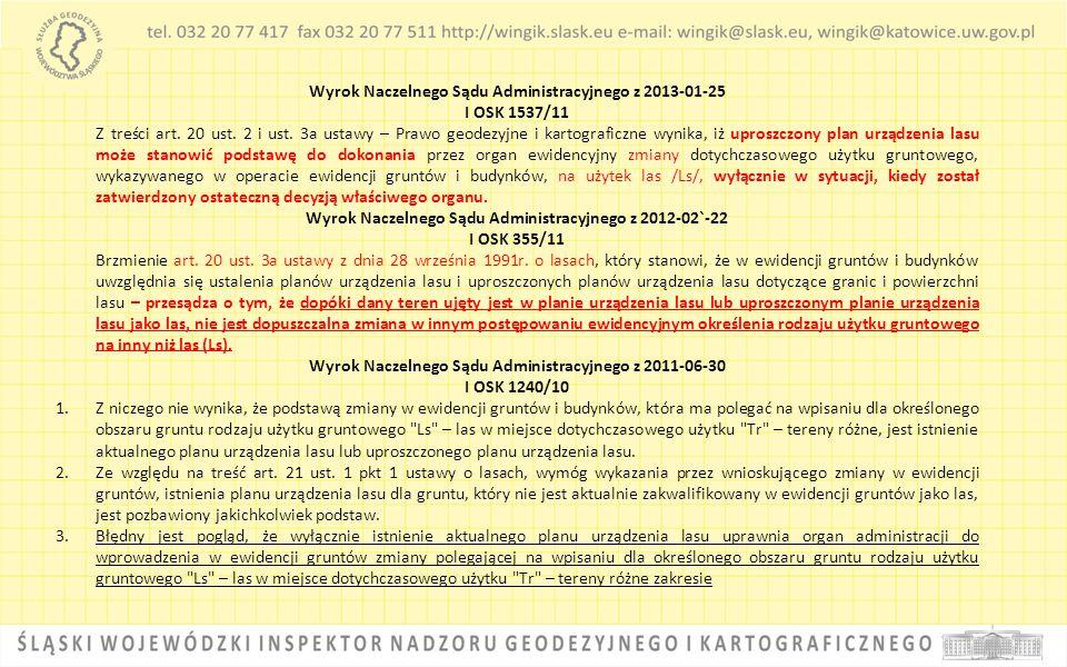 Wyrok Naczelnego Sądu Administracyjnego z 2013-01-25 I OSK 1537/11