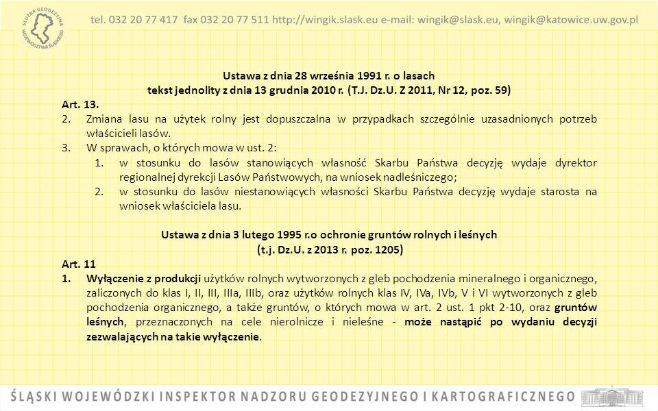 Ustawa z dnia 3 lutego 1995 r.o ochronie gruntów rolnych i leśnych