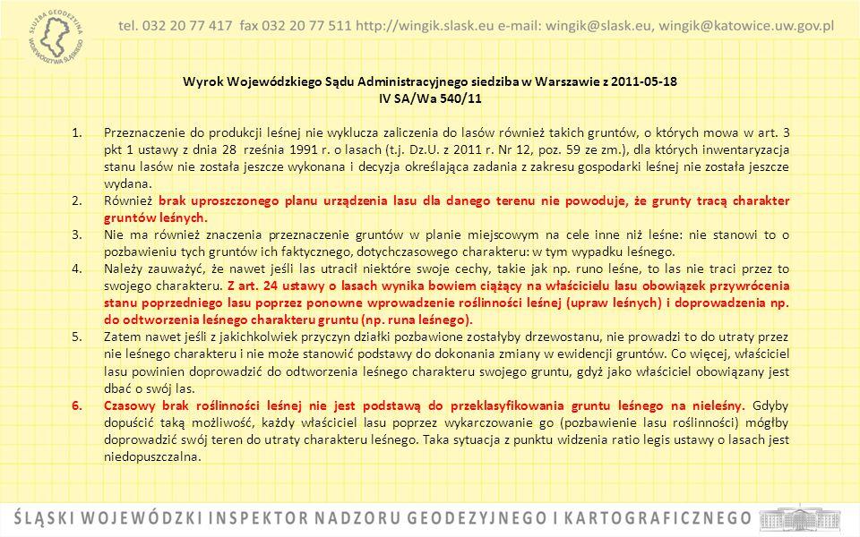 Wyrok Wojewódzkiego Sądu Administracyjnego siedziba w Warszawie z 2011-05-18
