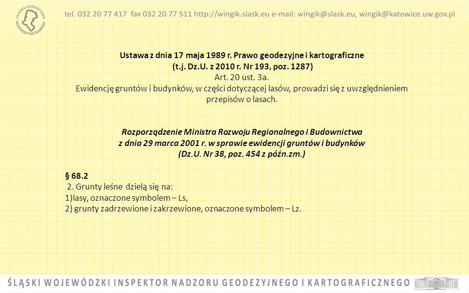 Ustawa z dnia 17 maja 1989 r. Prawo geodezyjne i kartograficzne