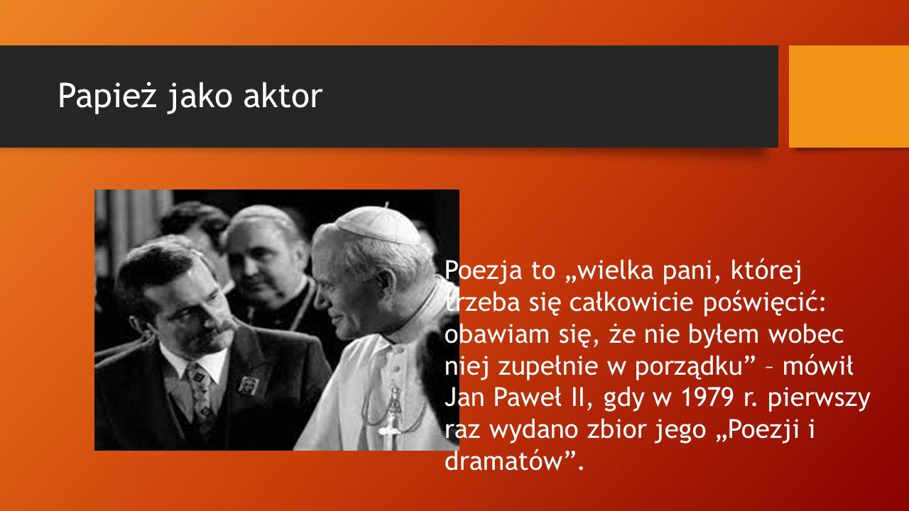 Papież jako aktor