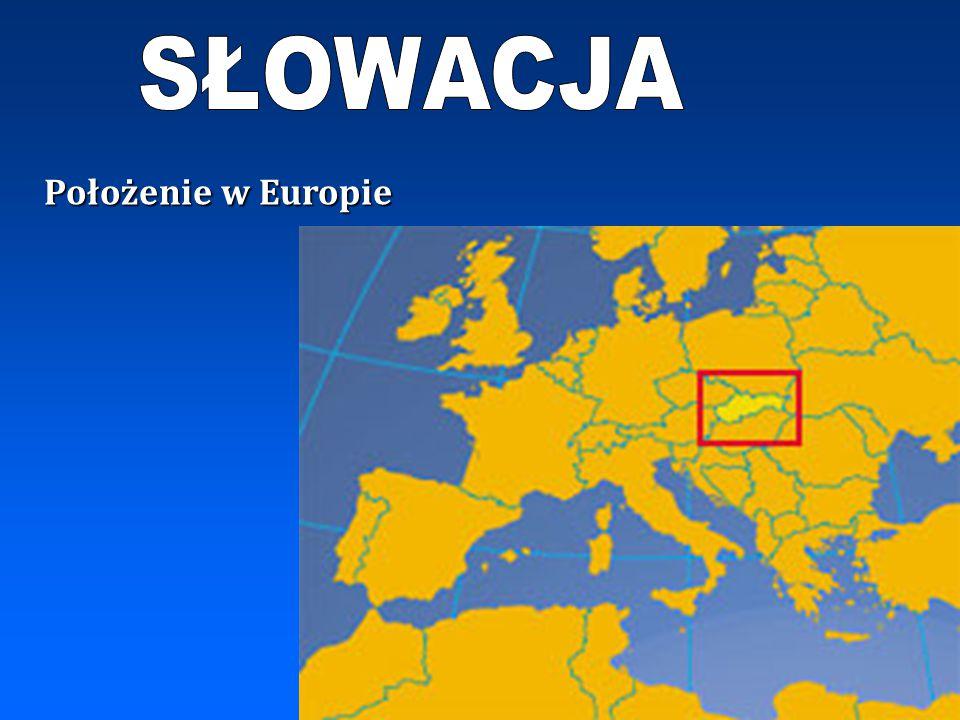 SŁOWACJA Położenie w Europie