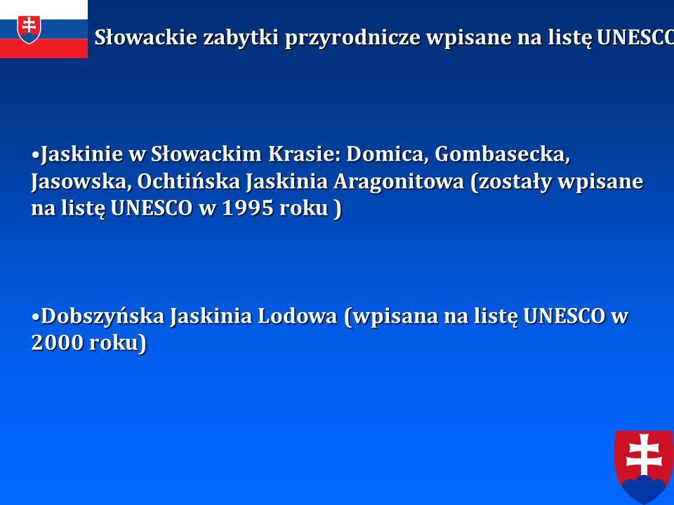 Słowackie zabytki przyrodnicze wpisane na listę UNESCO