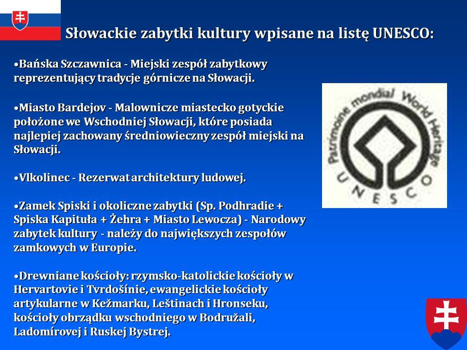 Słowackie zabytki kultury wpisane na listę UNESCO: