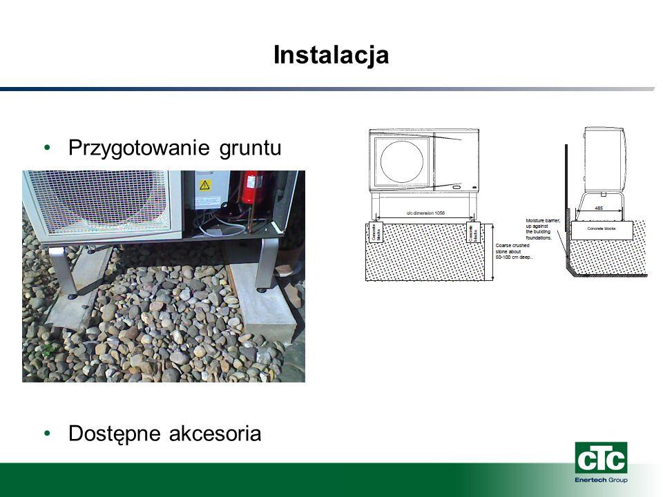 Instalacja Przygotowanie gruntu Dostępne akcesoria
