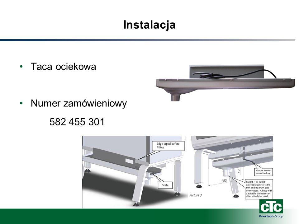 Instalacja Taca ociekowa Numer zamówieniowy 582 455 301