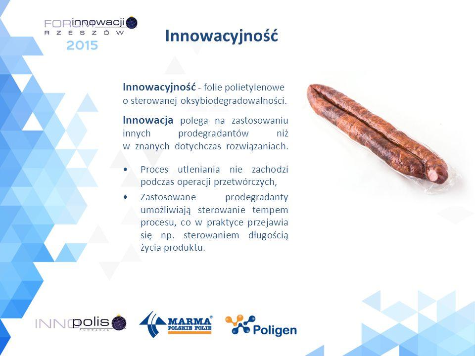 Innowacyjność Innowacyjność - folie polietylenowe o sterowanej oksybiodegradowalności.