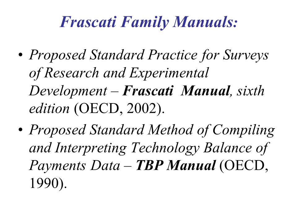 Frascati Family Manuals:
