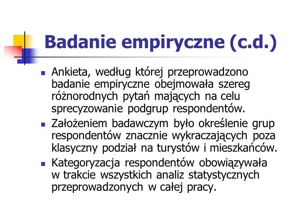 Badanie empiryczne (c.d.)