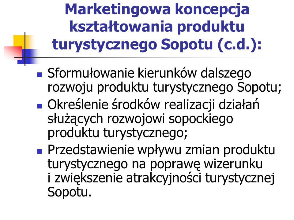 Marketingowa koncepcja kształtowania produktu turystycznego Sopotu (c