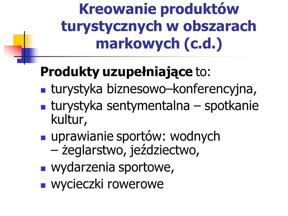 Kreowanie produktów turystycznych w obszarach markowych (c.d.)
