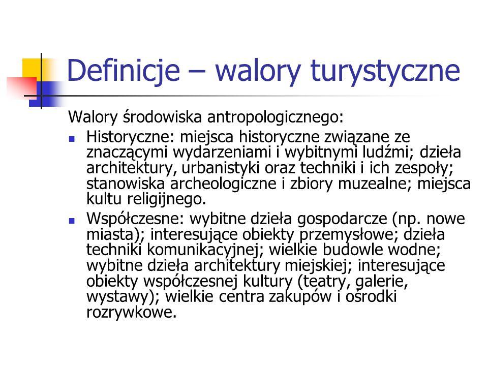 Definicje – walory turystyczne