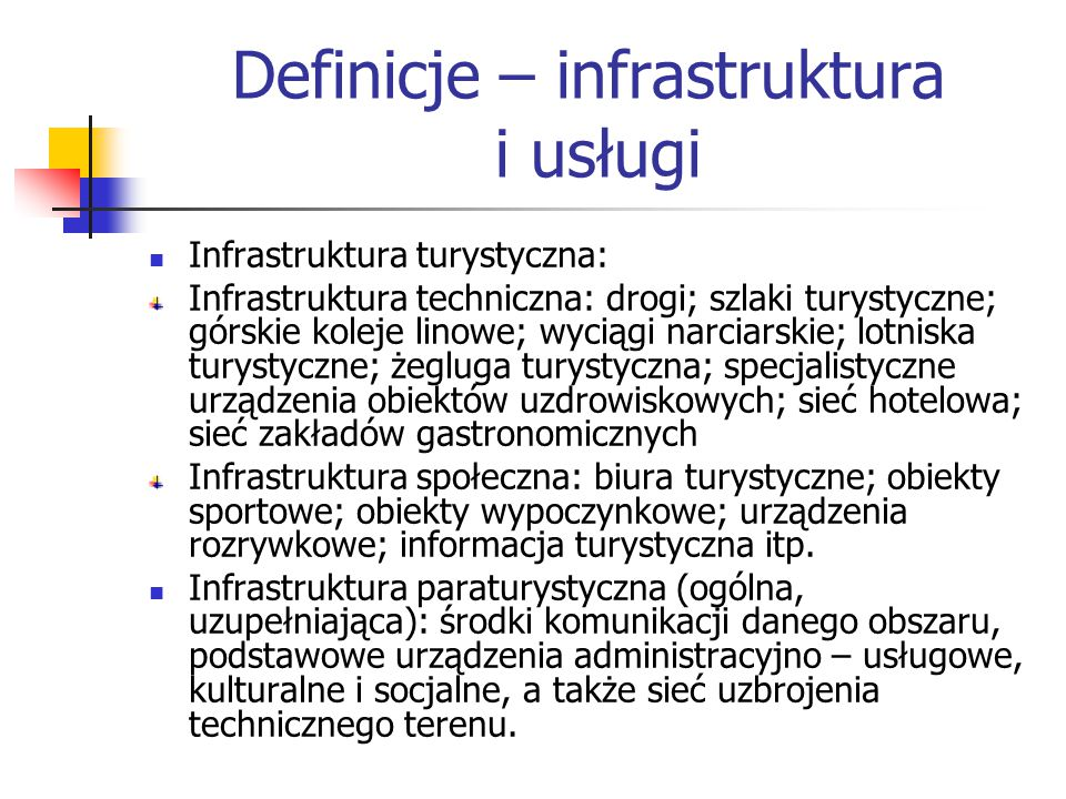 Definicje – infrastruktura i usługi