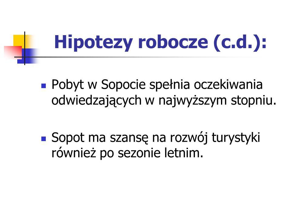 Hipotezy robocze (c.d.):