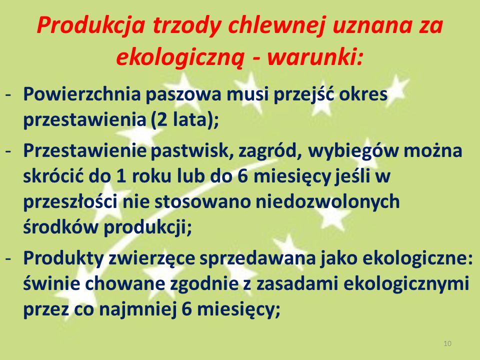 Produkcja trzody chlewnej uznana za ekologiczną - warunki: