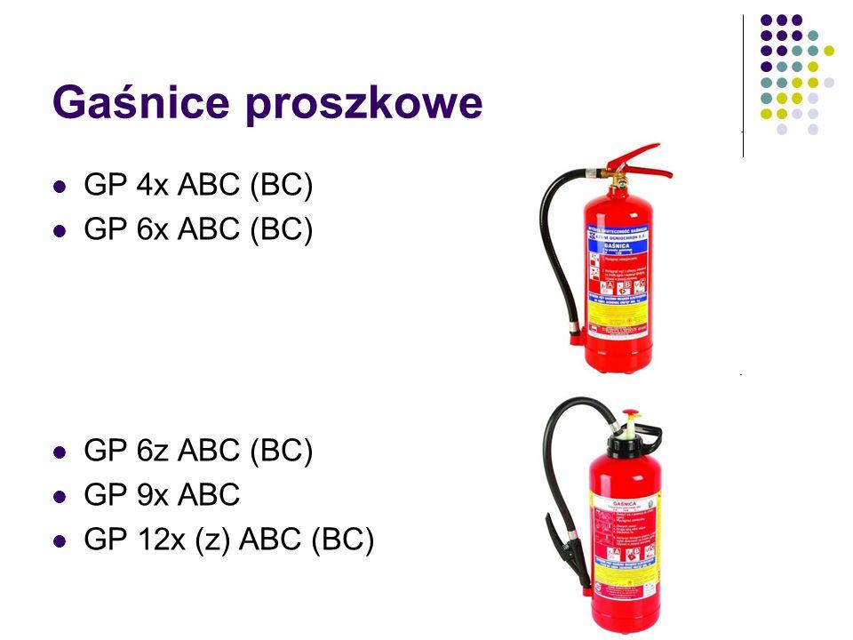 Gaśnice proszkowe GP 4x ABC (BC) GP 6x ABC (BC) GP 6z ABC (BC)