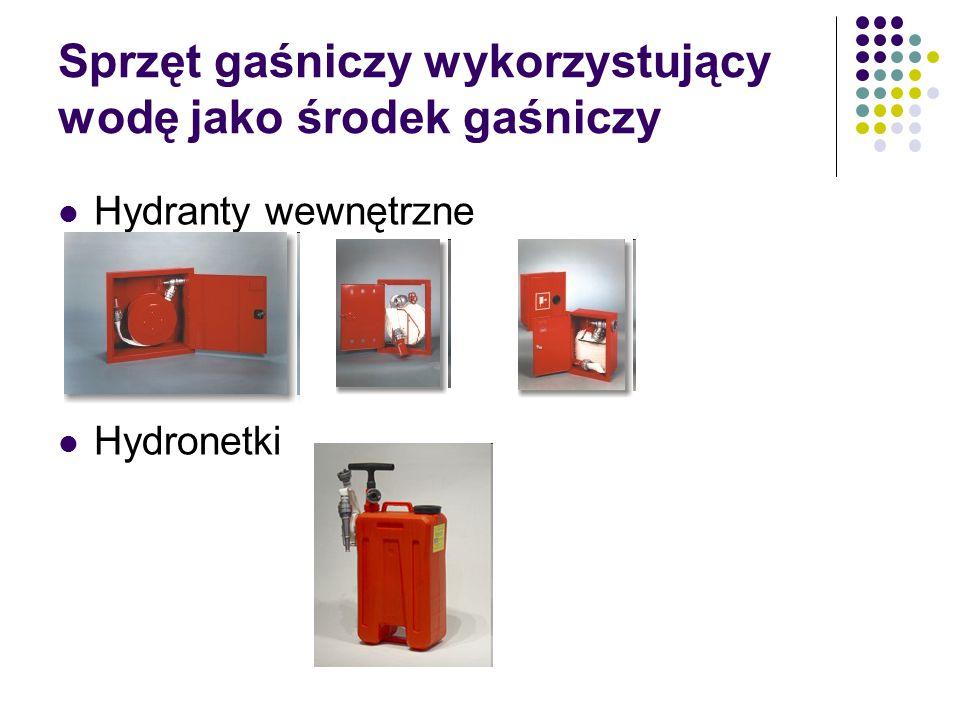 Sprzęt gaśniczy wykorzystujący wodę jako środek gaśniczy