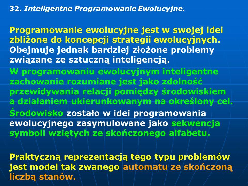 32. Inteligentne Programowanie Ewolucyjne.