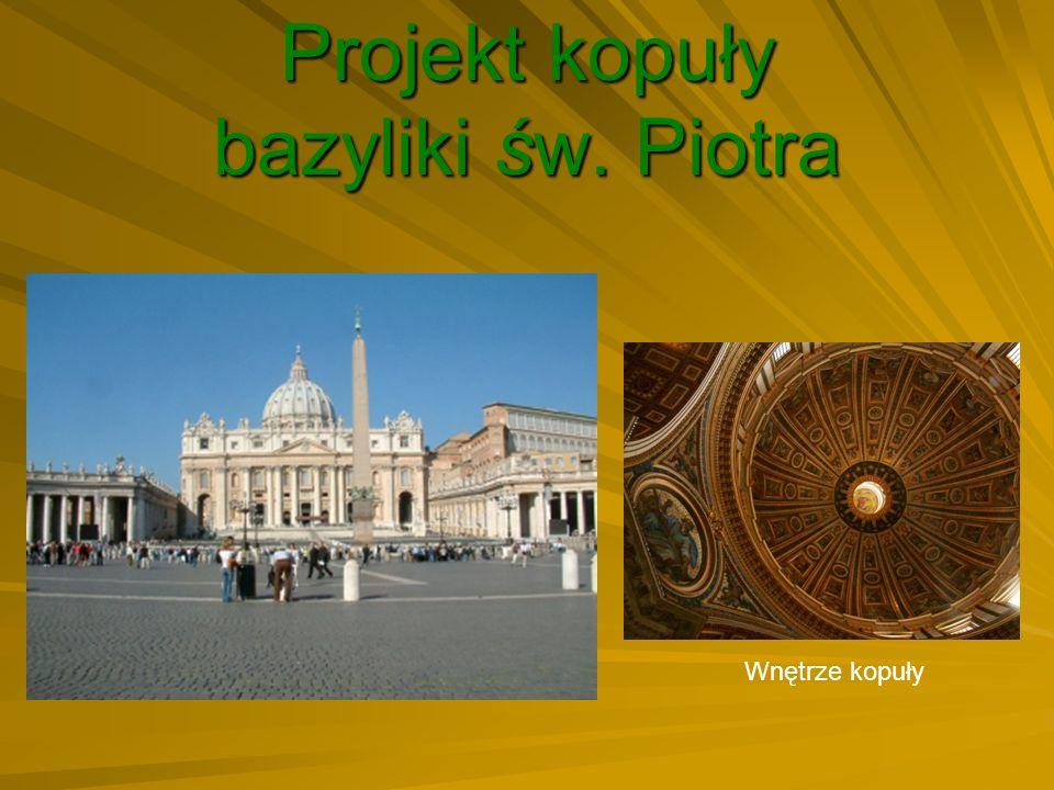Projekt kopuły bazyliki św. Piotra