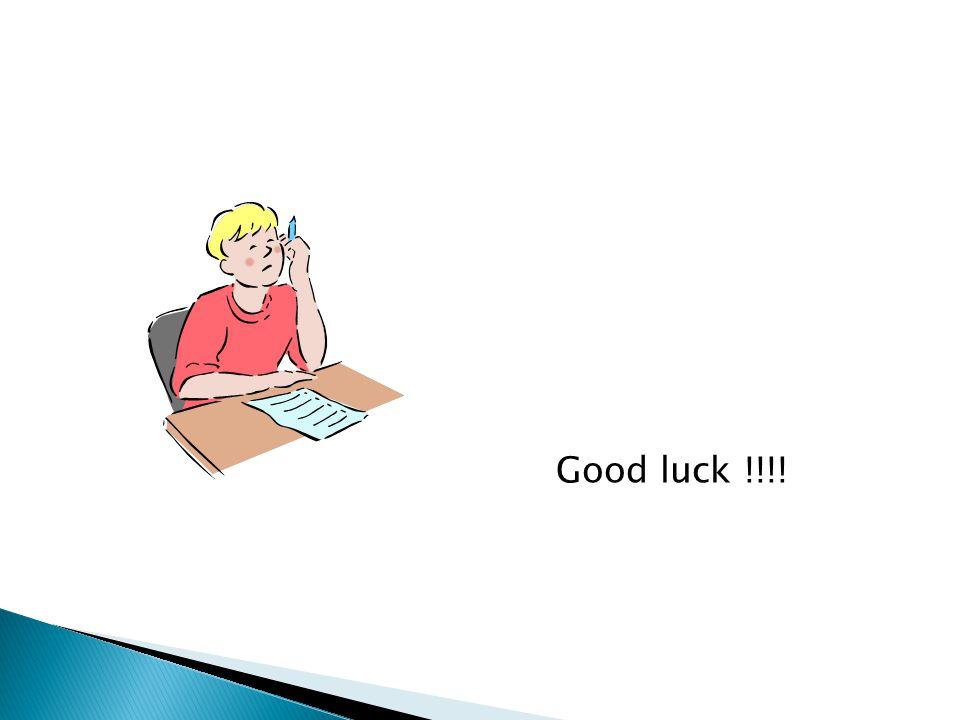 Good luck !!!!