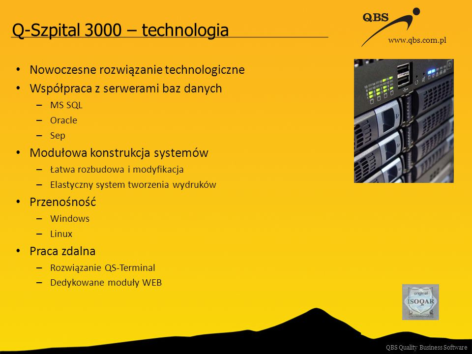 Q-Szpital 3000 – technologia