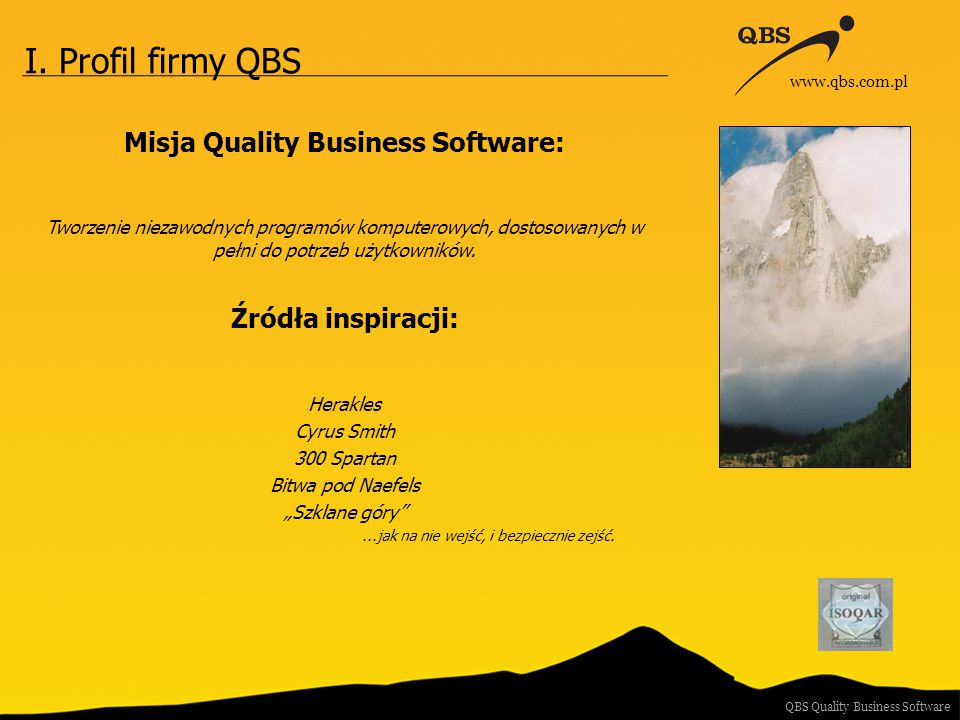 Misja Quality Business Software: