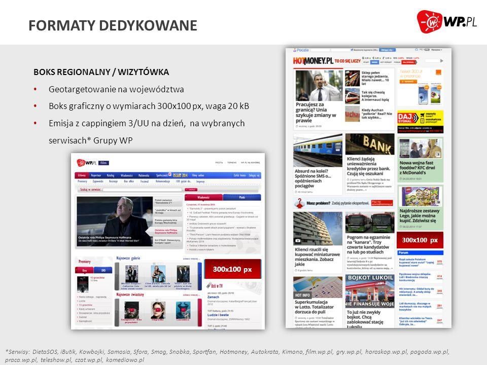 FORMATY DEDYKOWANE BOKS REGIONALNY / WIZYTÓWKA