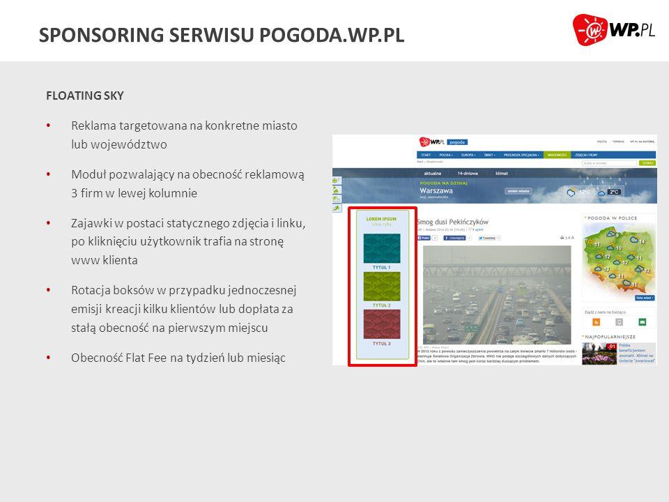 SPONSORING SERWISU POGODA.WP.PL