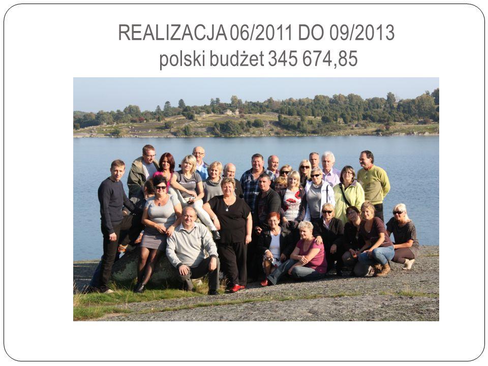 REALIZACJA 06/2011 DO 09/2013 polski budżet 345 674,85