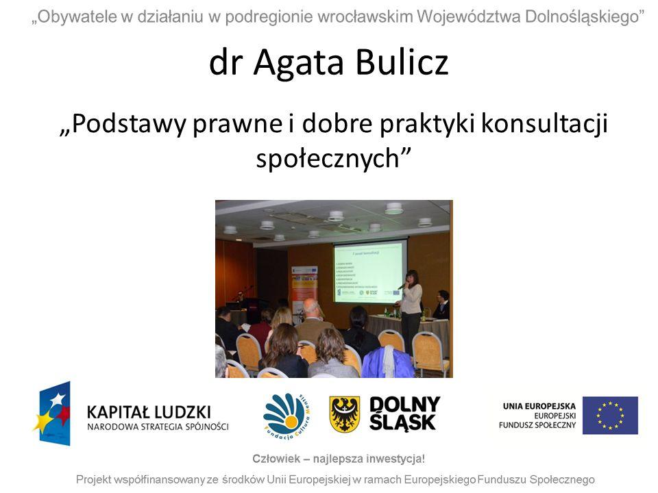 """""""Podstawy prawne i dobre praktyki konsultacji społecznych"""
