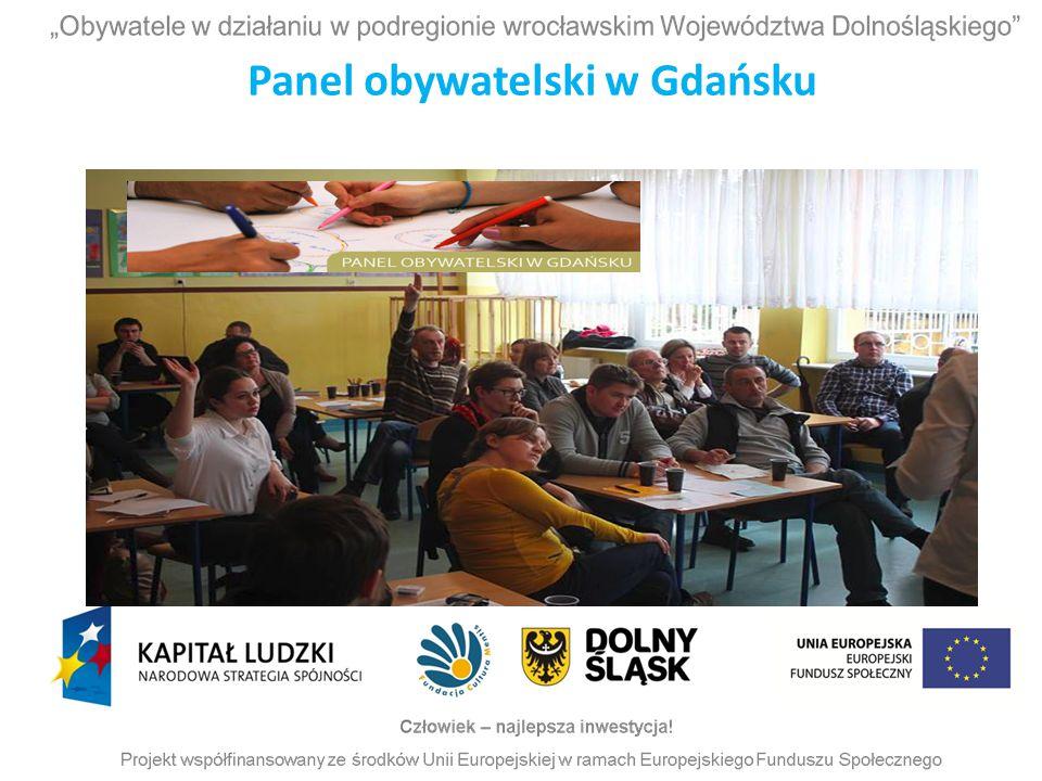 Panel obywatelski w Gdańsku