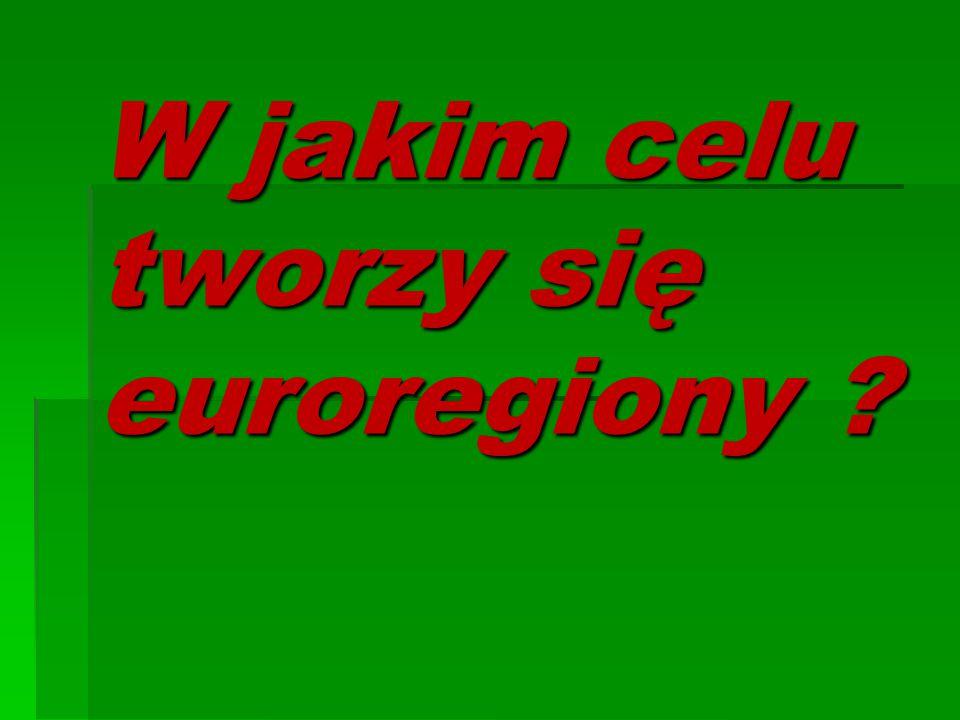 W jakim celu tworzy się euroregiony