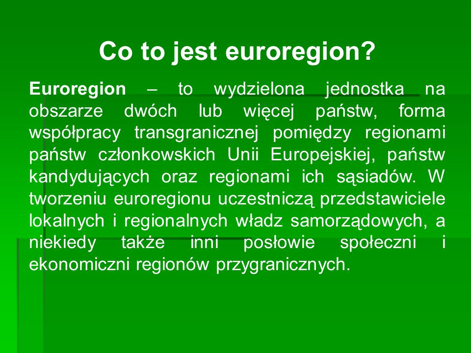 Co to jest euroregion