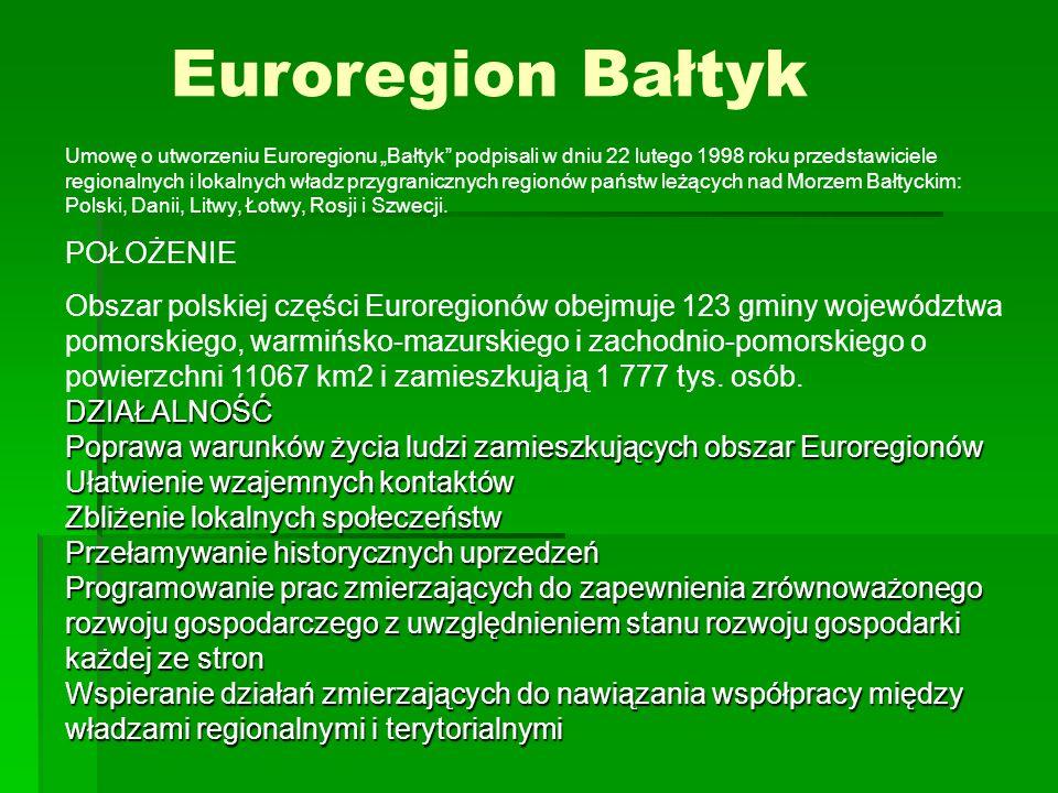 Euroregion Bałtyk POŁOŻENIE