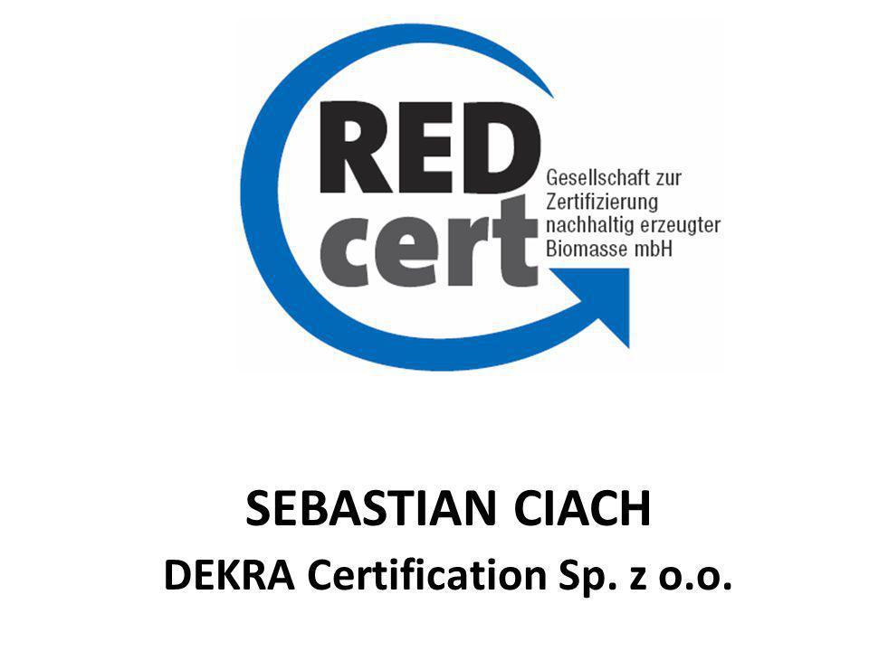 SEBASTIAN CIACH DEKRA Certification Sp. z o.o.