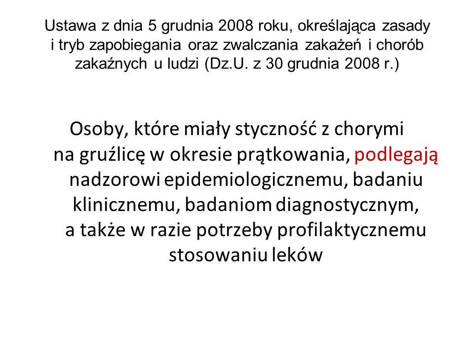 Ustawa z dnia 5 grudnia 2008 roku, określająca zasady i tryb zapobiegania oraz zwalczania zakażeń i chorób zakaźnych u ludzi (Dz.U. z 30 grudnia 2008 r.)