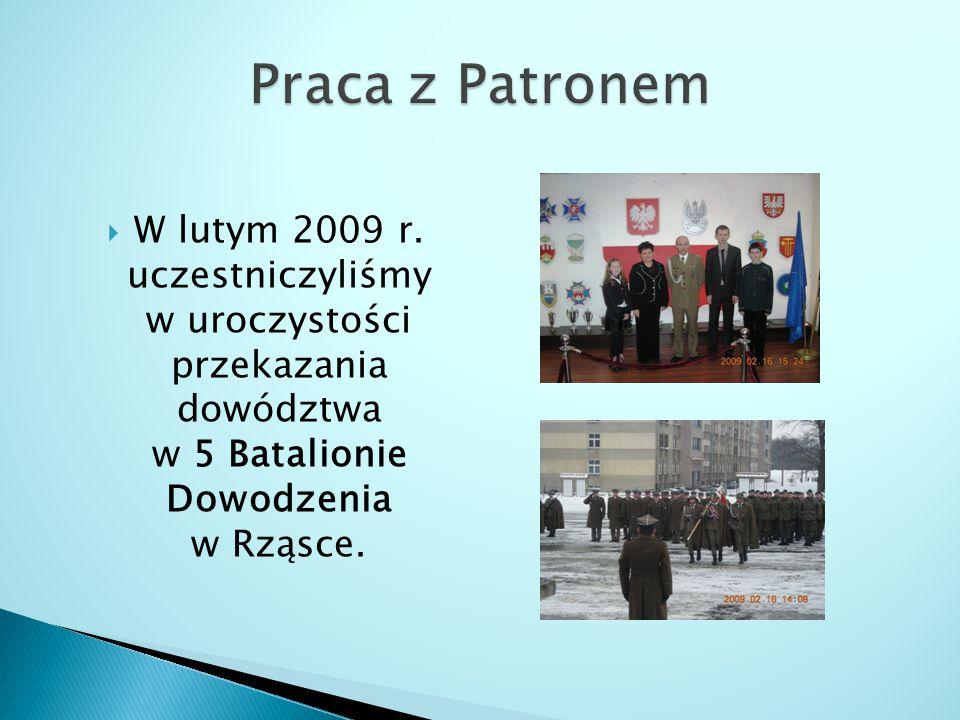 Praca z Patronem W lutym 2009 r.