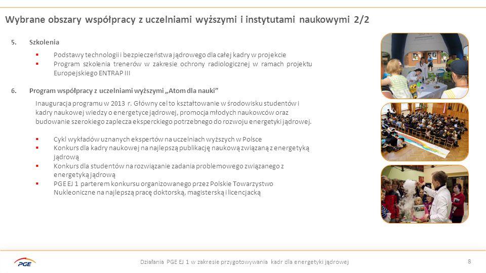 Wybrane obszary współpracy z uczelniami wyższymi i instytutami naukowymi 2/2