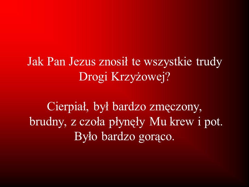 Jak Pan Jezus znosił te wszystkie trudy Drogi Krzyżowej