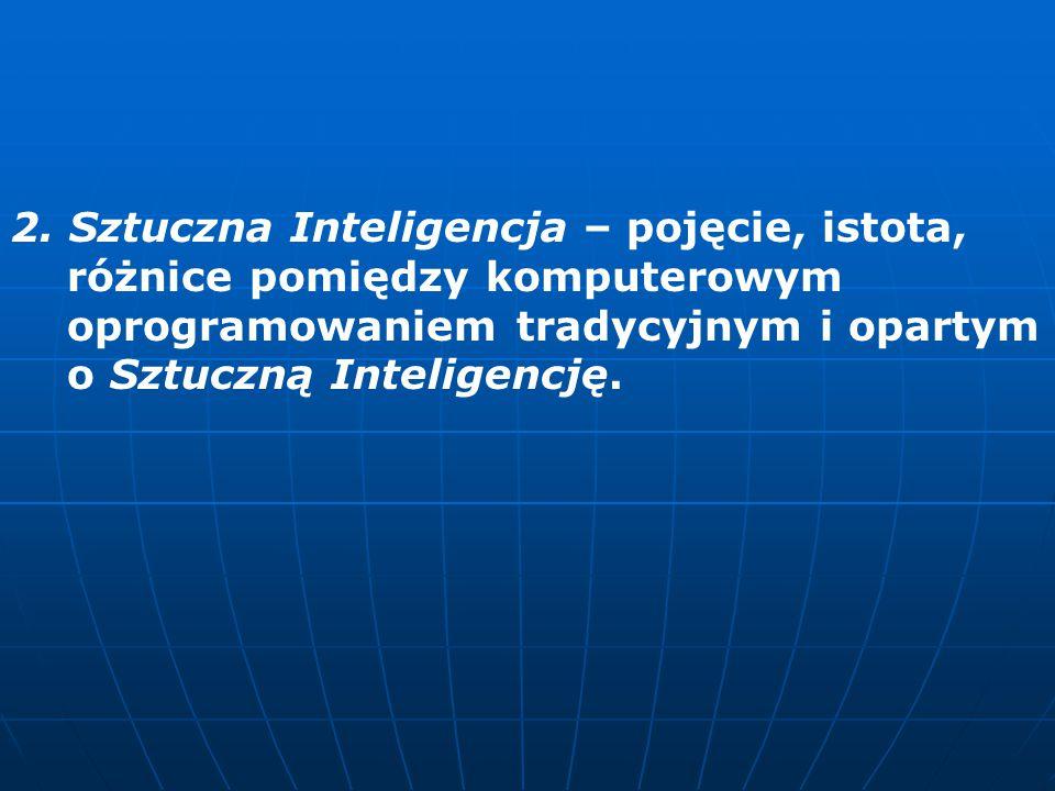 2. Sztuczna Inteligencja – pojęcie, istota,