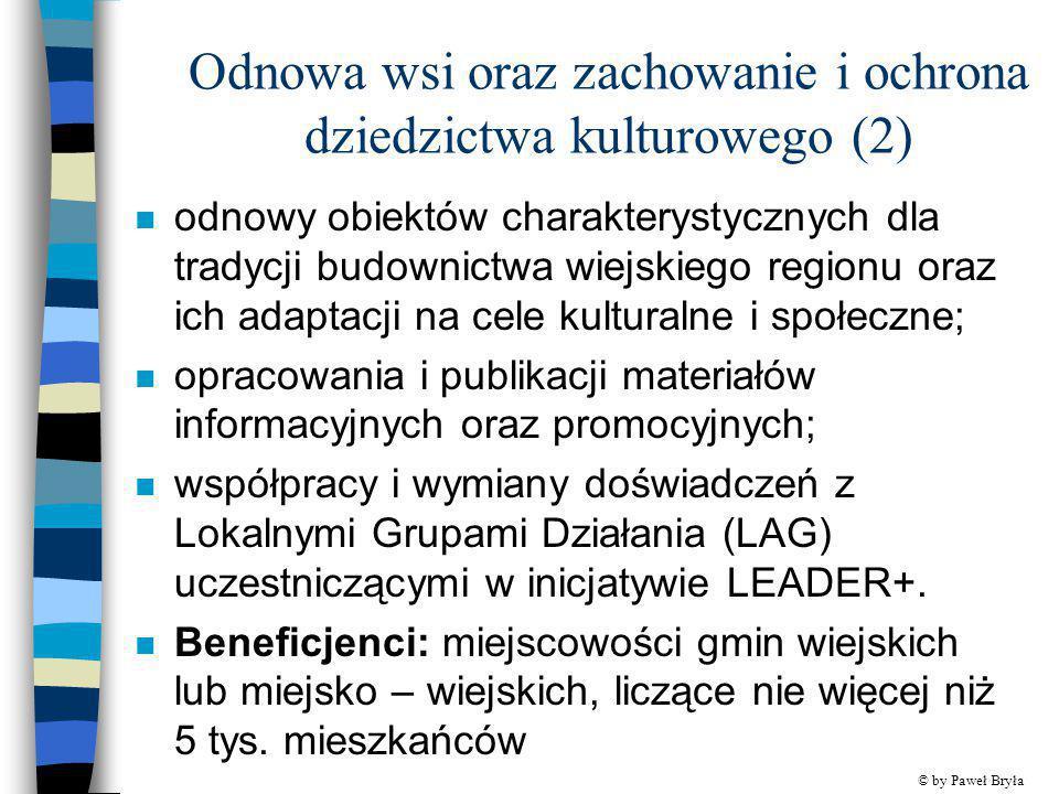 Odnowa wsi oraz zachowanie i ochrona dziedzictwa kulturowego (2)