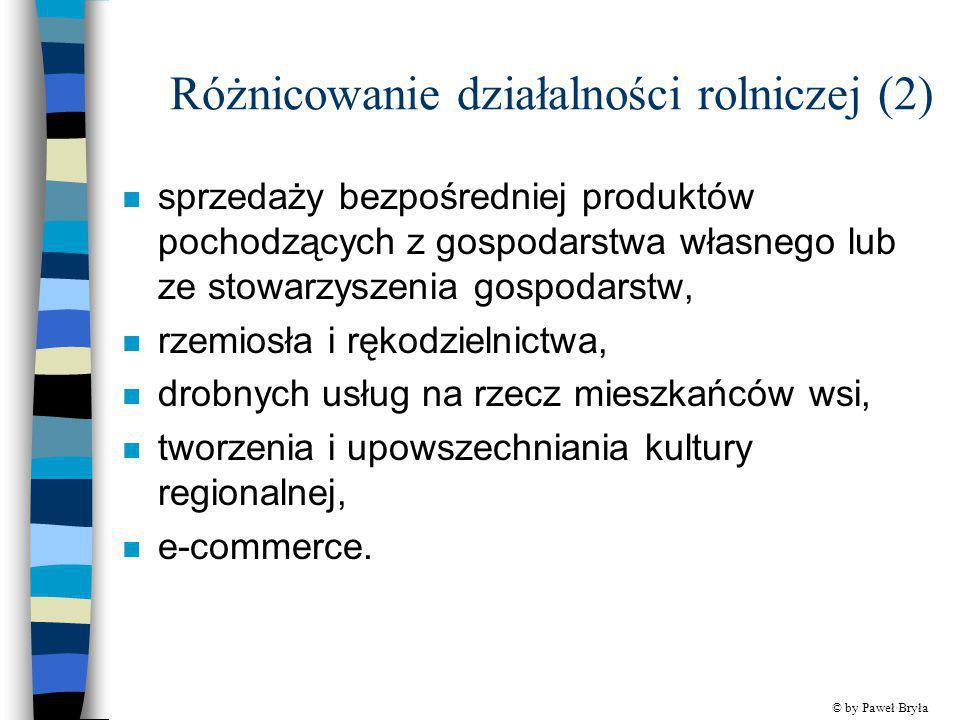 Różnicowanie działalności rolniczej (2)