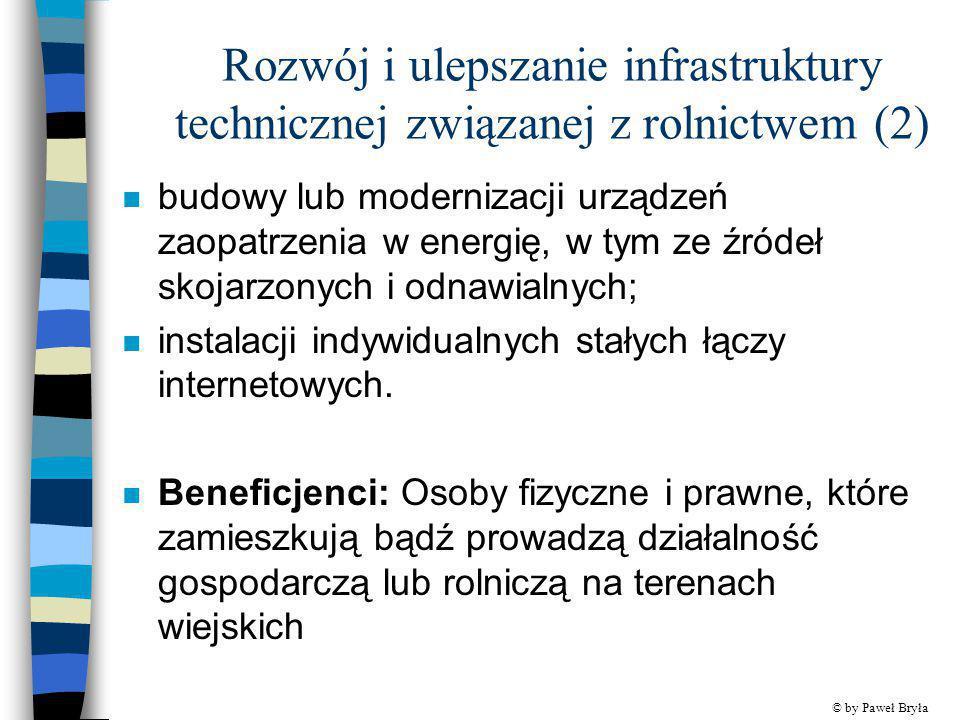 Rozwój i ulepszanie infrastruktury technicznej związanej z rolnictwem (2)