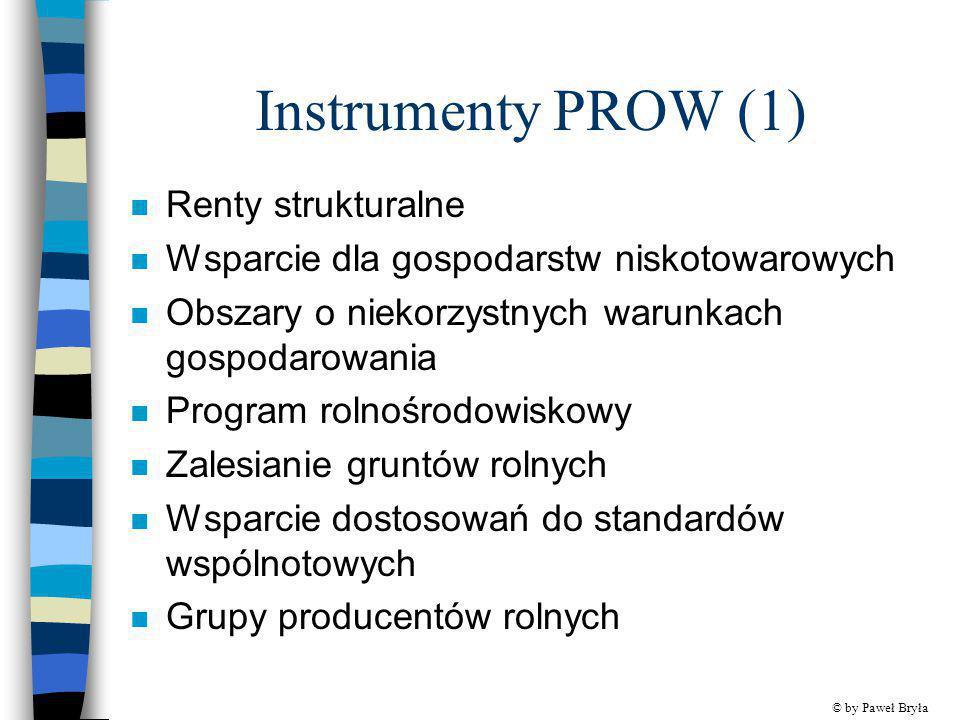 Instrumenty PROW (1) Renty strukturalne