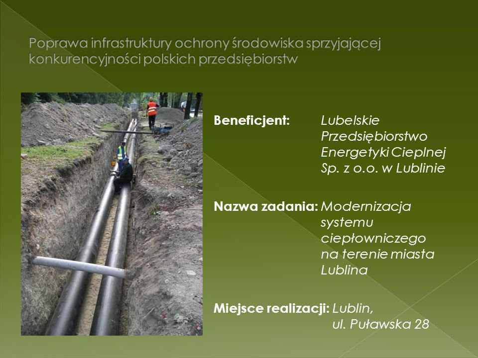 Poprawa infrastruktury ochrony środowiska sprzyjającej konkurencyjności polskich przedsiębiorstw