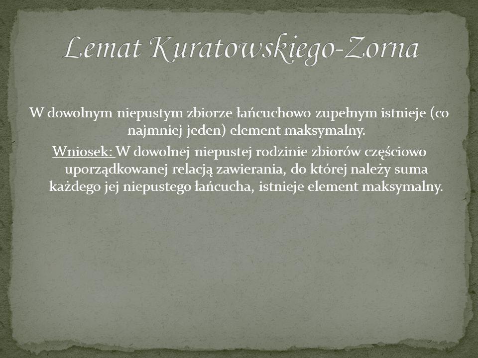 Lemat Kuratowskiego-Zorna