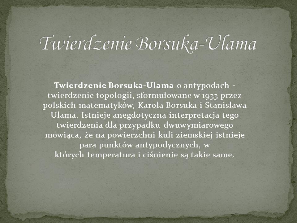 Twierdzenie Borsuka-Ulama