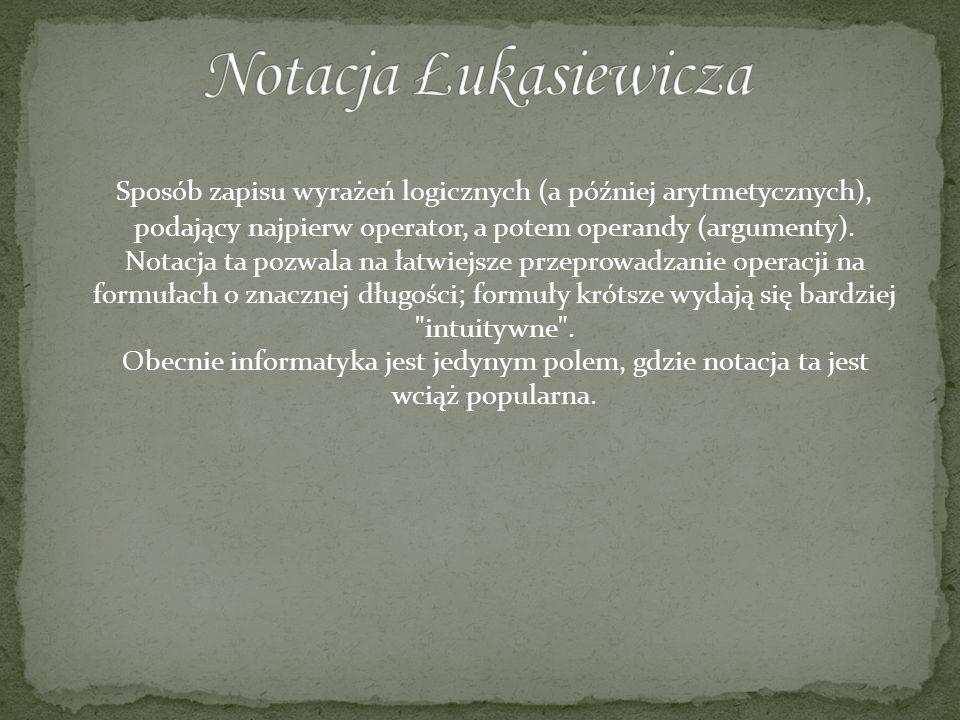 Notacja Łukasiewicza