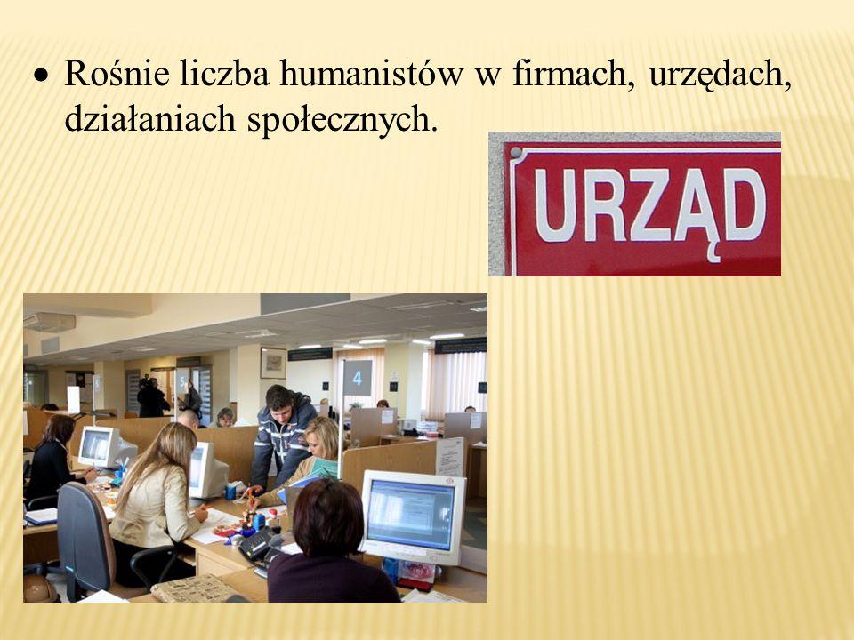 Rośnie liczba humanistów w firmach, urzędach, działaniach społecznych.